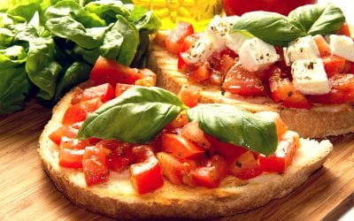 Bruschettas de Tomate y Queso